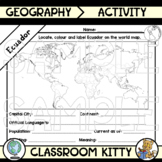 Ecuador Fact File Worksheet