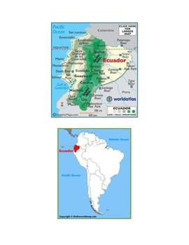 Ecuador Map Scavenger Hunt