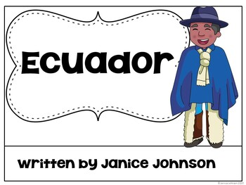 Ecuador Reader {English version} & Vocab pages ~ Simplified for Young Readers