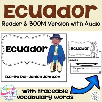 Ecuador Reader {en español} & Vocab pages ~ Simplified for Language Learners
