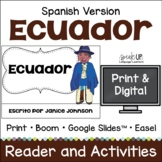 Ecuador Reader {en español} & Vocab pages ~ Simplified for Language Learners
