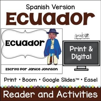 Ecuador Reader {en español} & Vocab pages ~ Simplified for