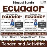 Ecuador Reader & vocab pages in English & Spanish {Bilingual version}