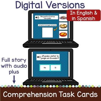 Ecuador Reader & vocab pages in English & Spanish {Bilingual bundle}