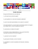Ecuador Web Quest in Spanish