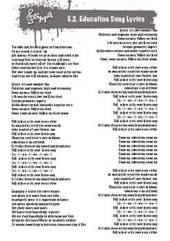 Ed Sheeran Education Song Lyric Sheet