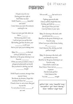 Ed Sheeran - Perfect song gap