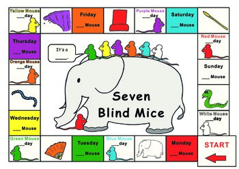 Ed Young Seven blind Mice - Game board