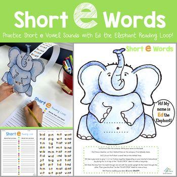 Ed the Elephant Reading Loop (short e vowel sounds)
