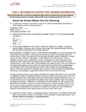 EdTPA Elem. Task 4: Mathematics
