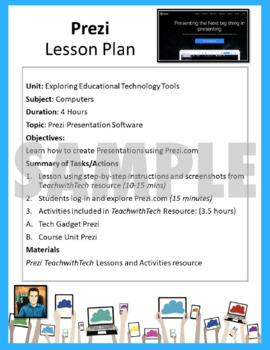 EdTech Editable Lesson Plan Templates