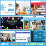 EdTech Websites Checklist & Certificates - Educational Technology