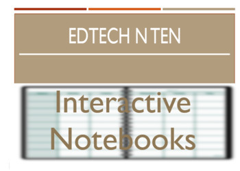 EdTech n Ten - Interactive Notebooks