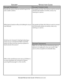 Edcamp Reflection Guide