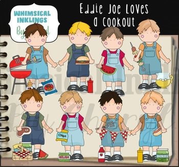Eddie Joe Loves a Cookout Clipart Collection