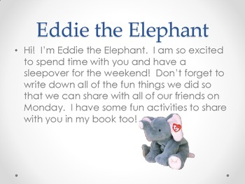 Eddie the Elephant Class pet