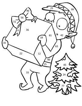 Eddie the Elf Christmas Multiplication Color by Number Freebie!