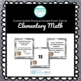 Elementary Math Introductory Customizable Escape Room / Breakout Game