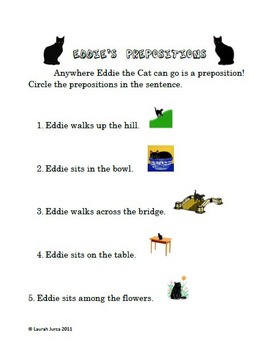 Eddie's Prepositions Unit Bundle