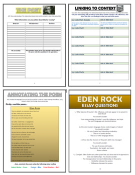 Eden Rock - Charles Causley - Comprehension Activities Booklet!