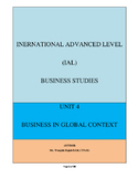 Edexcel A level Business Studies Unit 4: Global Business(full Notes)
