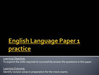 Edexcel English Language Paper 1 practice