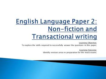 Edexcel English Language Paper 2 practice