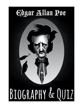 Edgar A. Poe Biography & Quiz (w/ Answer Key)