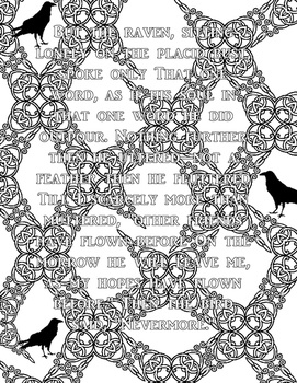 Edgar A. Poe Coloring Pages: High School or Middle School