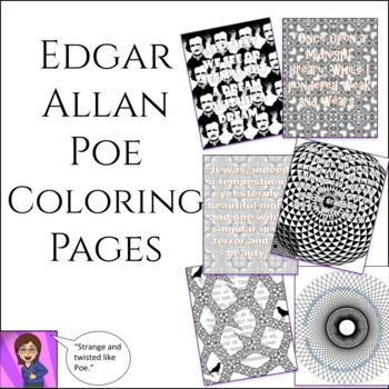 edgar allan poe coloring pages Edgar Allan Poe Coloring Pages: High School or Middle School | TpT edgar allan poe coloring pages