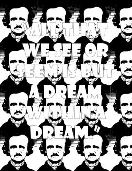 Edgar Allan Poe Coloring Pages: High School or Middle School
