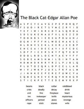 "Edgar A. Poe's ""The Black Cat"" Word Search"