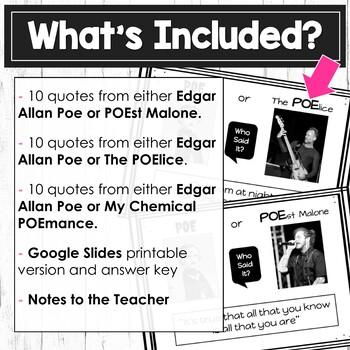 Edgar Allan Poe Activity | Digital Task Cards 2
