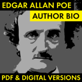 Edgar Allan Poe Author Study Worksheet, Easy Poe Biography