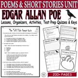 Edgar Allan Poe Lesson BUNDLE: Common Core ELA Test Prep Quizzes and Activities