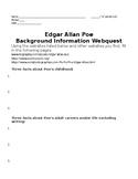 Edgar Allan Poe Background and Spanish Inquisition Webquest