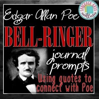 Edgar Allan Poe Bell Ringer Journal Prompts