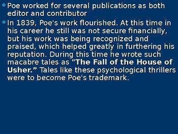Edgar Allan Poe Bio PowerPoint