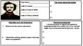 Edgar Allan Poe Biography Assignment