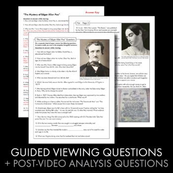 Edgar Allan Poe Biography, Easy Video Lesson, Sub Plan, Just Press Play!