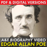 Edgar Allan Poe Biography, Easy Video Lesson, Sub Plan, Ju