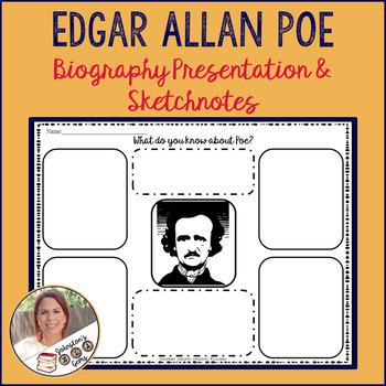 Edgar Allan Poe Biography Presentation and Sketchnotes Handout