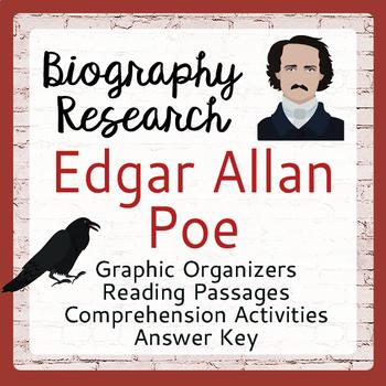 Edgar Allan Poe Biography Research Resource Graphic Organizers, ELA Activities