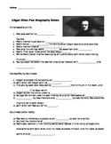 Edgar Allan Poe Biography Video Guided Notes + Key