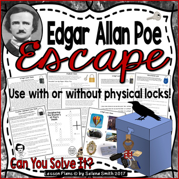 Edgar Allan Poe Breakout Lock Box / Escape Room