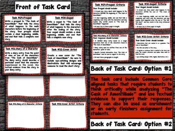 Edgar Allan Poe Bundle: Short Story Task Cards with EDITABLE Templates