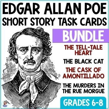 Edgar Allan Poe Bundle: Short Story Task Cards with EDITAB