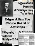 Edgar Allan Poe Choice Board of Activities - Common Core A