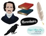 Edgar Allan Poe Clip Art Set