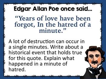 Edgar Allan Poe Common Core Bell Ringers